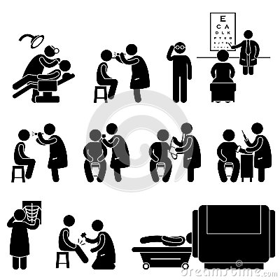 Health Medical Body Check Up Test Pictogram