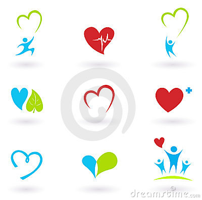 Health and Medical: Cardiology and heart icons