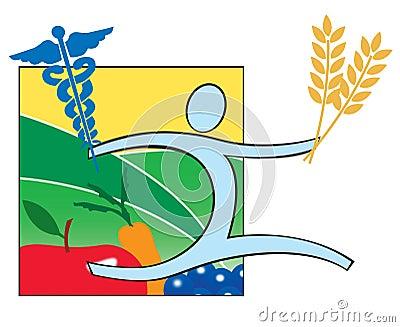 Health Nutrition and Medicine logo icon