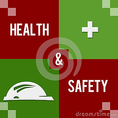 Health And Safety Red Green Four Blocks Stock Illustration - Image ...