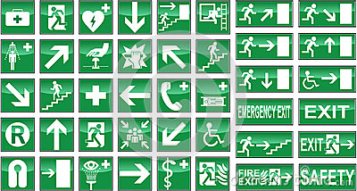 Health Safety Signs Sign Signal Signals Collection