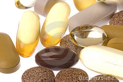 Health Supplements Macro Isolated
