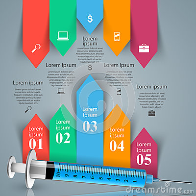 Health, syringe icon. 3D Medical infographic. Vector Illustration