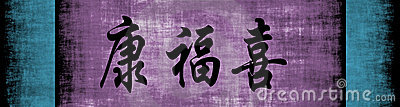 Health Wealth Happiness Chinese Phrase