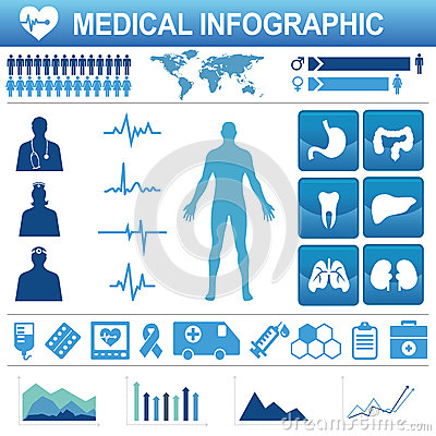 Healthcare icons and data elements