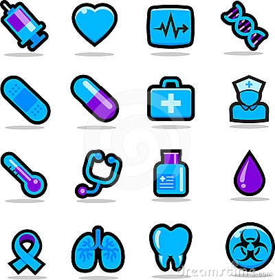Healthcare icons set