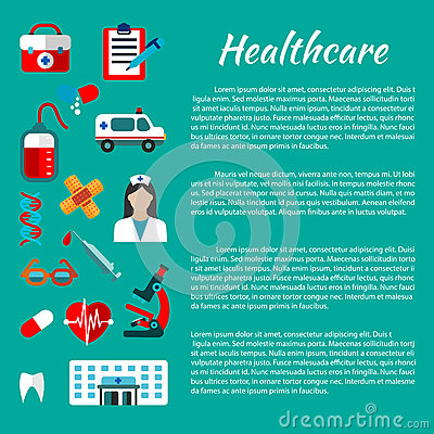 Healthcare And Medical Poster Design Stock Vector - Image: 74933372