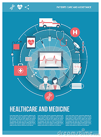 Healthcare Poster Stock Vector - Image: 61582906