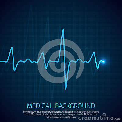 Free Healthcare Vector Medical Background With Heart Cardiogram. Cardiology Concept With Pulse Rate Diagram Royalty Free Stock Photo - 91370985