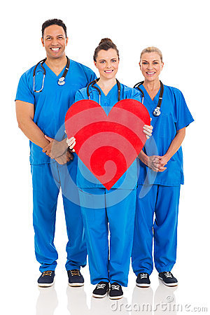 Free Healthcare Workers Heart Symbol Royalty Free Stock Image - 46572786