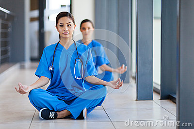 Healthcare workers meditation