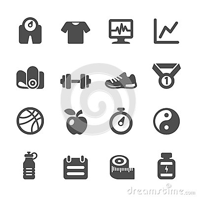 Free Healthy And Fitness Icon Set, Vector Eps10 Royalty Free Stock Photography - 57512397