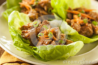 Healthy Asian Chicken Lettuce Wrap