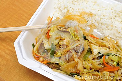 Healthy Asian style vegetable set meal