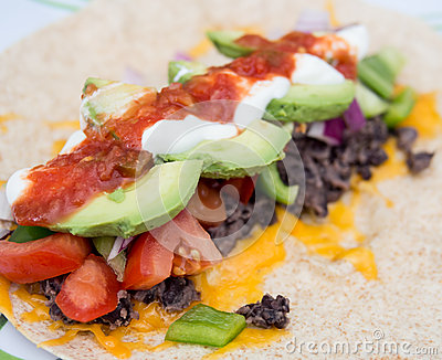 Healthy bean burrito