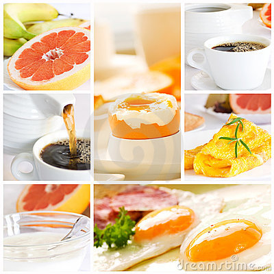 Free Healthy Breakfast Collage Stock Photography - 19461652