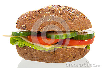 Healthy brown bread roll