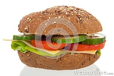 Healthy brown bread roll