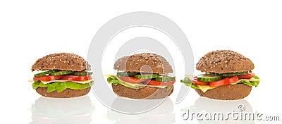 Healthy brown bread rolls