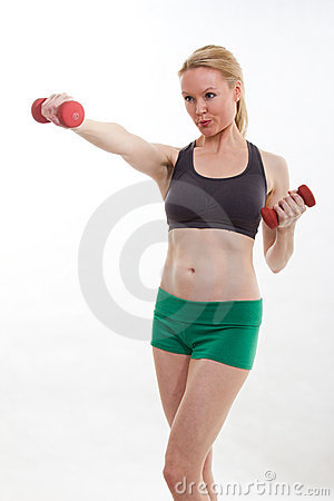 Healthy caucasian woman