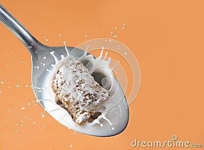 Healthy cereal splash