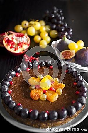 Free Healthy Chocolate Vegan Cake Stock Photo - 26872310