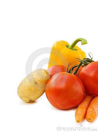 Healthy cooking with fresh vegetables