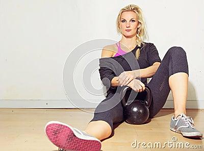 Healthy Crossfit Girl Relaxing