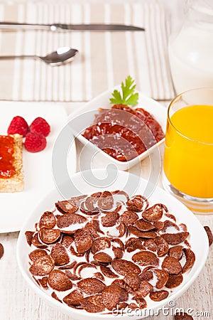 Healthy dairy breakfast