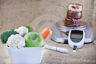 Healthy diet and regular control - diabetes