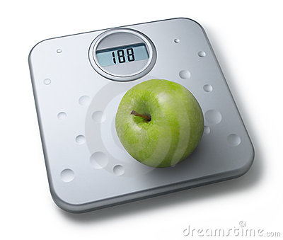 Healthy Diet Weight Scales Apple