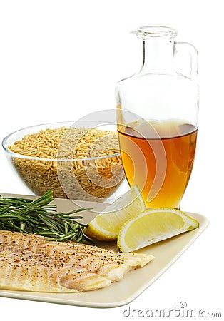 Healthy dinner ingredients