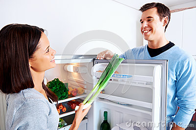 Healthy fridge couple