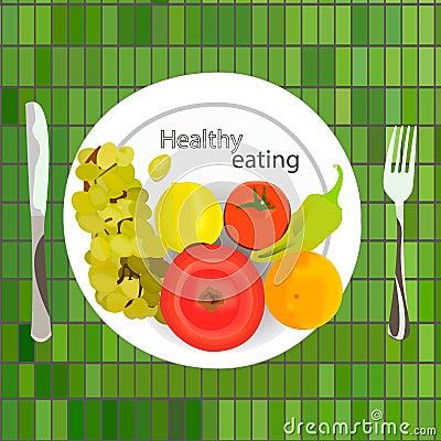 Healthy eating Vector Illustration
