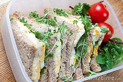 Healthy egg sandwich for lunch