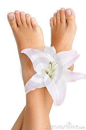 Healthy and elegant female feet