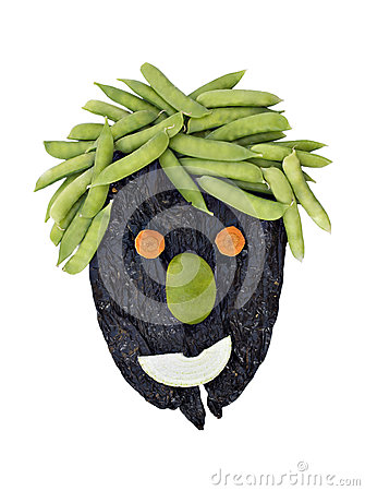 Healthy Face made with vegetables