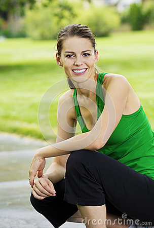 Healthy Fitness Woman Portrait
