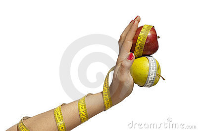 Isolated Apples on Hand