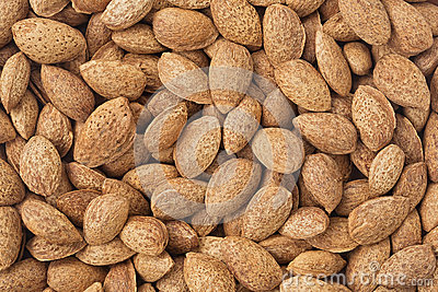 Healthy food background. Almond.