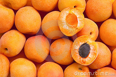 Healthy food, background. Apricot