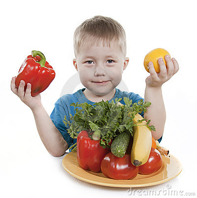 Healthy food of children.