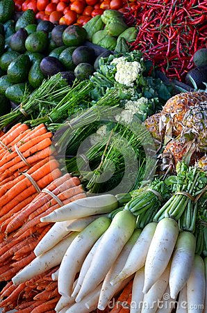 Free Healthy Food Display On Traditional Market Stock Images - 28290504