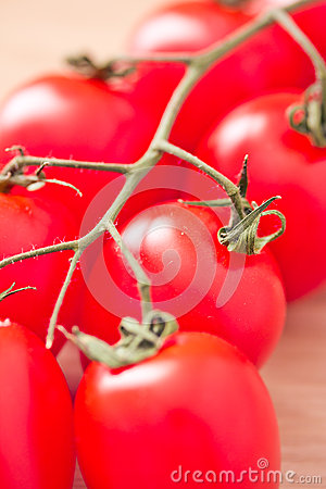 Healthy food: fresh red tomatoes