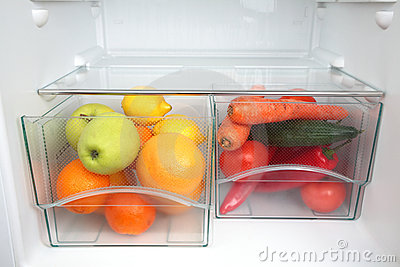 Healthy Food in Fridge