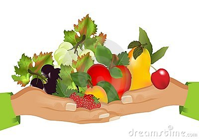 Healthy food (fruits), cdr vector