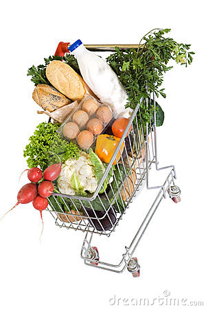 Free Healthy Food In Shopping Cart Stock Images - 8469374