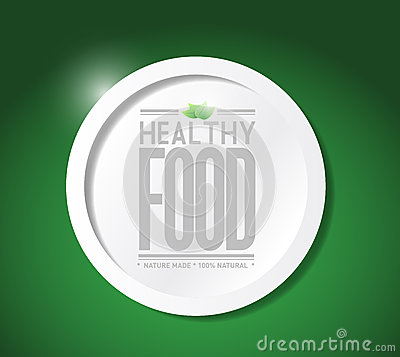 Healthy food lifestyle illustration design