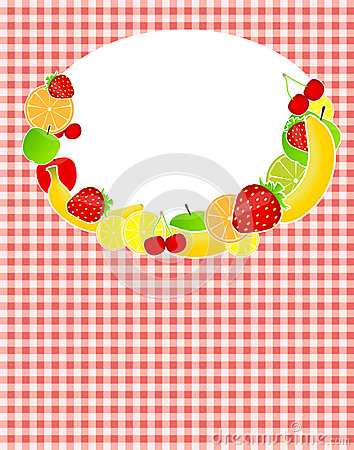 Healthy food menu template vector illustration