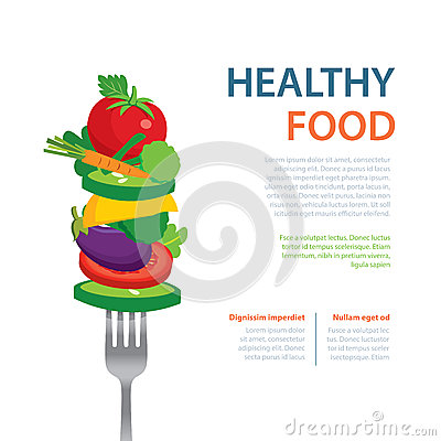 Free Healthy Food On The Fork  Diet Concept Fruits And Vegetables Royalty Free Stock Photos - 56480288